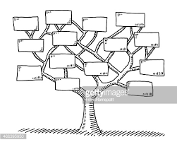 tree branches with blank signs drawing vector id