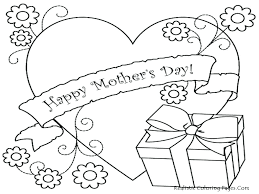 Mothers Day Coloring Pages Mother For Kindergarten Sheets Spanish Full Size