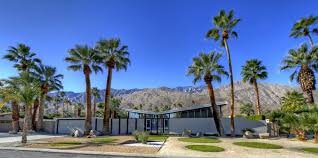 mid century modern house with palm springs mid century home