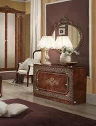 kommode mit spiegel in walnuss klassisch design