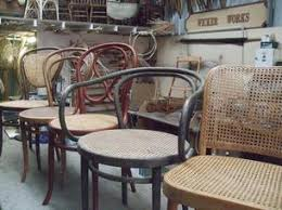 Thonet Bentwood Chair Cane Seat by Chairs With Woven Seats Wicker Works