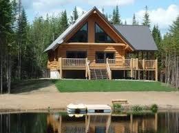 chalet en bois rond à louer bord de l eau spa privé à montreal