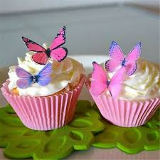 Birthday Cake Decoration Cupcake Toppers Butterfly Wafer Edible Rice Paper