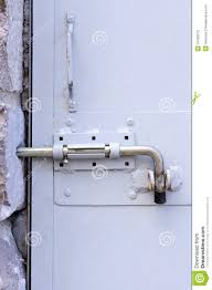Metal door lock stock photo Image of padlock grain