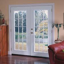 Outswinging French Patio Doors by Masonite 72 In X 80 In Ultra White Prehung Right Hand Inswing 15