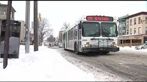 Emmaus Halloween Parade Route by Sidewalks Streets Cleaned After Snow But What About Bus Stops