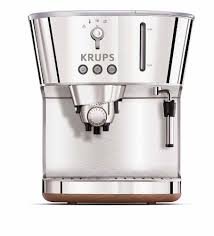 Krups XP4600 Silver Art Collection Pump Espresso Machine With Precise Tamp Technology Stainless Steel