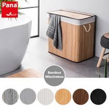 pana eco bambus wäschekorb mit deckel i versch größen und farben