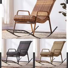 Amazon.com: HENRYY Rocking Chair Cane Chair Adult Leisure ...