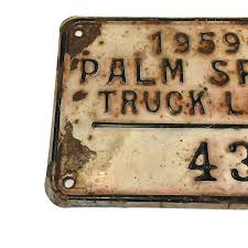 1950-1960 Truck License Plate #436 Palm Springs – Long Beach Antique ...