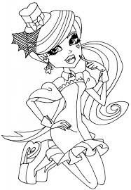 Peaceful Inspiration Ideas Monster High Printable Coloring Pages Images