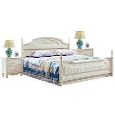 klassisches landhaus schlafzimmer holz bett 2x nachttisch 3 tlg set stil neu