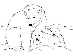 Polar Bears Printable Coloring Page Instant By BIGCOLORFULWORLD 100