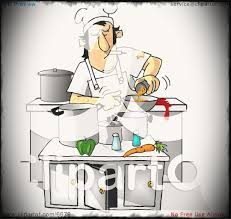 Dirty Chef Smoking While Cooking In A Kitchen Clipart By Djart