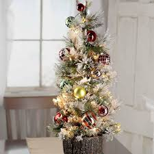 Eye Catching Pre Lit Tabletop Christmas Tree In Decorated Artificial Trees And