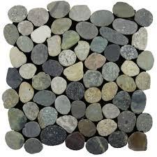 sliced pebble tile grey blend