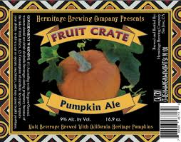 Harvest Pumpkin Ale by Norcal Beer Blog Hermitage Brewing Company Fruit Crate Pumpkin Ale