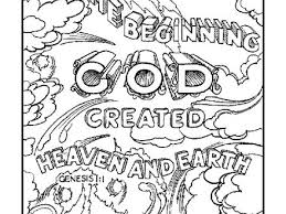 God Created The Earth Coloring Pages Home