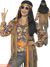Adults 60s 70s Hippie Costume Mens Ladies Hippy