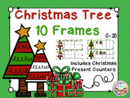Christmas Tree Ten Frames 0 20 With Presents Counters