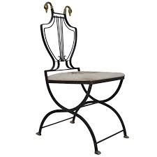 Lyre Back Chairs History by Lyre Back Regency Style Swan Head X Form Wrought Iron And Brass