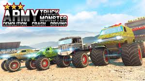 100 Monster Truck Crash Army Demolition Driving For Android APK Download