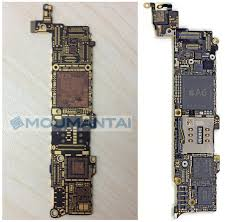 s of Bare iPhone 5S Logic Board Surface Slightly Narrower
