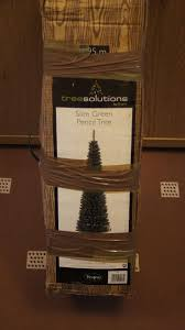 6ft Slim Christmas Tree With Lights by 6ft Slim Christmas Tree Lights And Baubles In Blantyre Glasgow