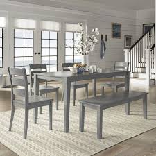 Wilmington II 60 Inch Rectangular Antique Grey Dining Set By INSPIRE Q Classic