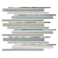 american olean mosaic tile shop american olean quicksilver linear mosaic glass and metal wall