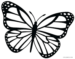 Caterpillar Coloring Page Butterfly Printable Pages Monarch