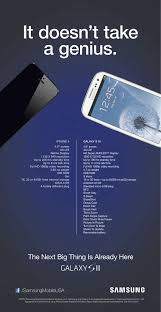 Samsung takes aim at iPhone 5 in new print ad