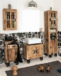 badezimmer badmöbel set 4 teilig factory design mangoholz