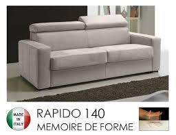 canap rapido canape rapido sidney memory matelas 140 14 190 cm memoire de forme