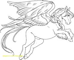 Beautiful Unicorn Pegasus Coloring Pages With Printable Of