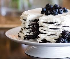 dessert avec creme fouettee recette gâteau aux biscuits et à la crème maison et demeure