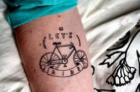 Live Ride Banner And Bike Tattoo