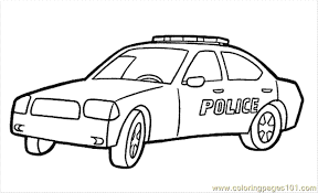Police Cars Coloring Pages 20 Car To Print Page
