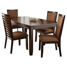 5 Piece Colleen Dining Set Wood/Brown - Steve Silver Company ... Marvellous Parsons Ding Chairs Upholstered Room Skirted Walmart Black Friday 2019 Best Deals On Fniture The 8 At In Sets Mandaue Foam Chair Set Of 2 Forest Green Velvet Like Scott Living Bishop Farmhouse Table With Parson Faux Leather Charming Custom West Large Stunning White Marble Linen Tan Nailhead Trip Lilah 3pc Latest Home Decor And Design
