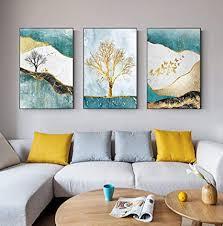nlznkzj abstrakte goldene leinwand malerei goldbaum