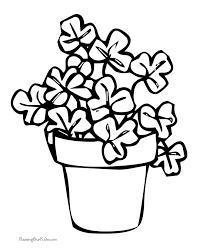Printable Shamrock In Flower Pot
