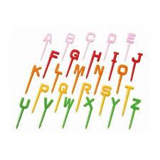 Japanese Bento Accessory Food Pick Alphabet Letter Set 26 pcs for