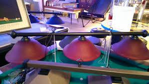 100 Kd Pool RAM Burgundy Glass With Black Bar Table Light KD Game