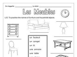 FRENCH Les Meubles Et Pieces De La Maison