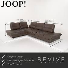 joop loft leder ecksofa anthrazit graubraun funktion sofa 15280