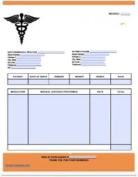 Free Medical Invoice Template Excel PDF