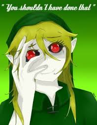This is Lizzie drowned a female version of Ben drowned in Legend of Zelda Marijuana Mask