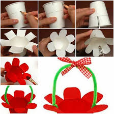 How To Make Paper Cup Basket Step By Diy Tutorial With Regard Art And