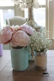 Lots Of Cute Ideas Shabby Chic Baby Shower Party Mason Jar Vases