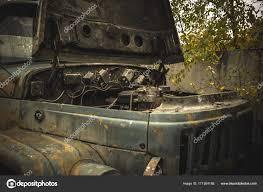 100 Wrecked Truck Old Rusty Wrecked Car Or Truck Stock Photo DedMityay 171384188